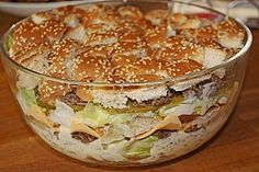 Big Mac Salat (Rezept mit Bild) von na_ba | Chefkoch.de Big Mac Salat, That's Hilarious, Salad Recipes, Snack Recipes, Cooking Recipes, Party Recipes, Vegan Fitness, Mac Torte, Popular Recipes