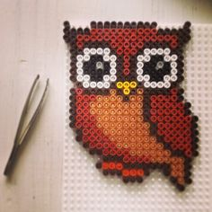 Owl perler beads by jushou