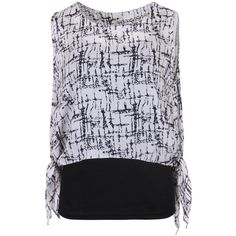 ililily Lightweight Abstract Print Self-tie Sides Over-sized... ($14) ❤ liked on Polyvore featuring tops, sleeveless tank tops, oversized tops, oversized tank tops, lightweight tops and sleeveless tops