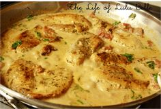 Chicken in Tomato & basil Cream Sauce (S) This is something I'd make again, I served mine over konjac noodles