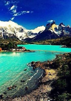 At the Laguna Peohe in Patagonia, Chile.