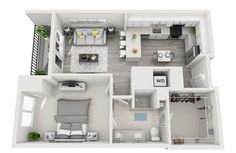 Floor Plans - 500 Harbour Island in Tampa, FL 33602 Apartment Layout, One Bedroom Apartment, Apartment Design, Home Decor Bedroom, Studio Apartment, Bedroom Ideas, Sims House Design, Modern House Design, Sims House Plans