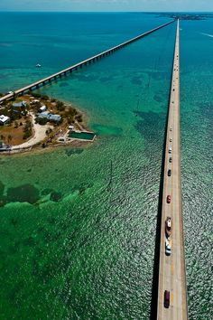 Aerial View of the Seven Mile Bridge, Florida Keys - traveled that road many many times!