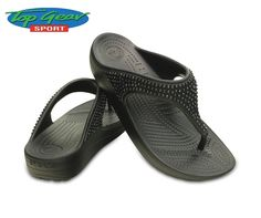 Ladies, be prepared for summer with a pair of comfortable #Crocs Sloane flip-flops, available from #TopGearSport.