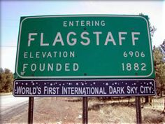 Entering Flagstaff, Arizona USA
