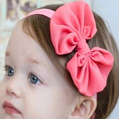 Soft Chiffon Bow Headbands