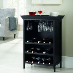 This is what I need! Compact size for my small kitchen and a perfect mini cocktail/wine & don't forget the cheese cart station. Ampersand® Calistoga Bar and Wine Storage Unit - BedBathandBeyond.com