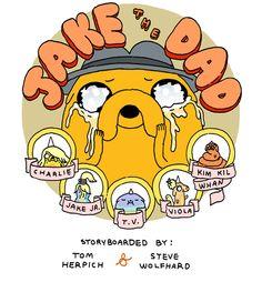 one of the best episodes! - Hora de Aventuras. Ilustración promocional para el episodio Jake the Dad.