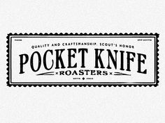 Pocket Knife by Scott Hill