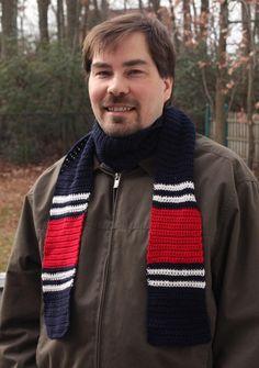 Free Crocheting Pattern: Go Team Scarf
