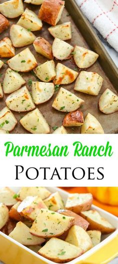 Crispy Parmesan Ranch Roasted Potatoes. Super easy and delicious!