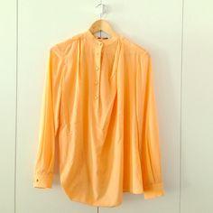 3.1 Phillip Lim Silk Shirt Faded orange silk blouse with side drape detail US SIZE 0 3.1 Phillip Lim Tops