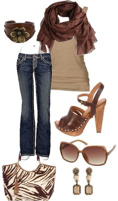Browns, created by bgiroux on Polyvore