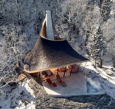 Lead Architecture, Bamboo House Design, Shell Structure, Retreat House, Timber Beams, A Frame House, Fantasy House, Construction, Built Environment