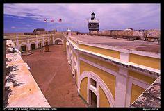Inside courtyard, El Morro Fort, San Juan, Puerto Rico