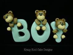 Teddy Bear Cake Topper. $65.00, via Etsy.