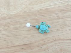Turquoise Turtle Belly Ring Belly Button ring by LostAtSeaJewelry, $11.00