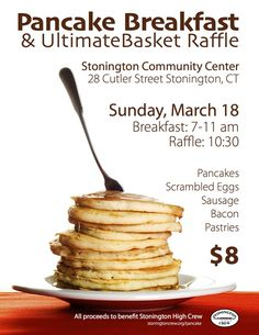pancake breakfast fundraiser #fundraisingposter Create your online fundraising campaign at http://gogetfunding.com