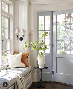 entryway with window seat