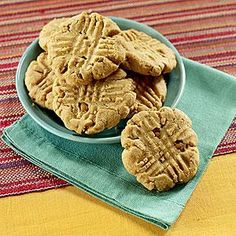 Peanut Butter Cookies with Butterscotch Bits | MyRecipes.com