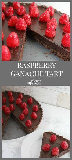 Chocolate And Raspberry Tart, Raspberry Ganache, Chocolate Ganache Tart, Chocolate Wafer Cookies, Raspberry Desserts, Raspberry Tarts, Köstliche Desserts, Homemade Desserts, Chocolate Desserts
