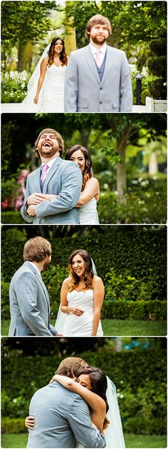 This Disneyland wedding first look moment is just the absolute sweetest