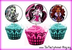Monster High cupcake topper free downloads