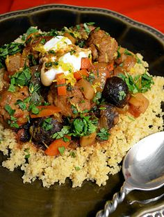 moroccan lamb meatballs with figs