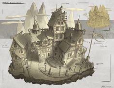 Tavern Design, jonathan dufresne on ArtStation at https://artstation.com/artwork/tavern-design