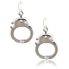 Silver Plated Functional Handcuff Earrings by spinning Daisy. $9.99. This fun looking earrings is not only cute but also ceremonial in occasions like halloween. The handcuff earrings actually open and close, allowing you to adjust their appearance.