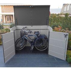 Kunststof fietsenberging Lifetime.. Onderhouds vrij & standaard 5 jaar garantie!