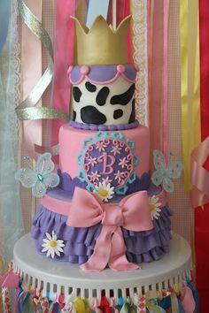 Fancy Nancy Birthday Cake