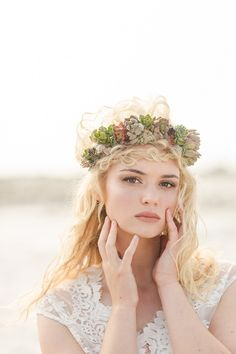 Bridal portrait shot, beach shoot