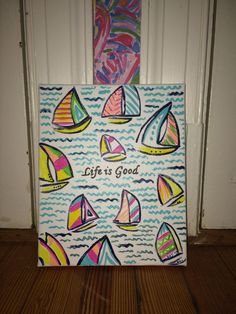 Life is Good Lilly Pulitzer Canvas