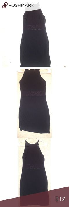💋New Forever 21 Dress Black Mesh Dress 💋 Sexy black mesh dress from Forever21. This dress is NWOT, never worn. The tag says Large but fits like a medium 👌🏾😊 the mesh in the middle is very sexy and would be perfect for the club or a girls night out. Make this treasure yours today 😘 Open to reasonable offers. Bundle multiple items for better savings. Follow me on IG : cocoskin86 Forever 21 Dresses Mini