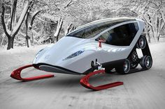 The Snow Crawler is a Futuristic Concept Powered by an Electric Drive System #ces2015 trendhunter.com