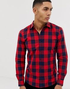 Shop Pull&Bear check shirt in red at ASOS. Pull & Bear, Work Casual, Men Casual, Asos, Check Shirt, Latest Trends, Red, Mens Tops, Lisa