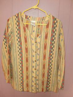 Roaman's Southwestern Western Cowgirl Button Front Women's Shirt Top Size 16 16W | eBay