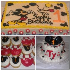 Mickey mouse sheet cake mickey mouse cupcakes mickey mouse smash cake