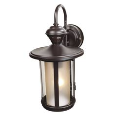 Heath Zenith 15.61-in H Oil-Rubbed Bronze Motion Activated Outdoor Wall Light | Lowe's Canada