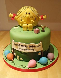 Little Miss Sunshine Cake - For all your cake decorating supplies, please visit http://www.craftcompany.co.uk/