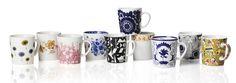 Finland 100 mugs - Arabia Marimekko, The 100, Mugs, Tableware, Design, Decor, Cupboard, Dishes, Amp