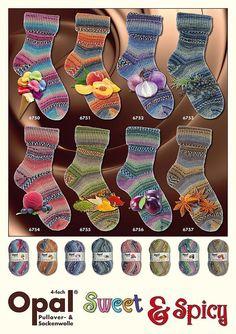 Sock yarn  Opal Sweet and Spicy sock yarn by worldofyarnholland, $9.40