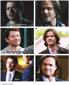 Supernatural- Castiel and Sam Winchester Boys, Winchester Brothers, Supernatural Memes, Supernatural Playlist, Supernatural Pictures, Bae, Youre Cute, Bubbline, Comic