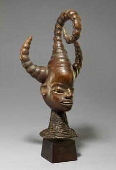 Ekoi Head Crest, Efut-Ibibio Group, Cross River Region, Nigeria