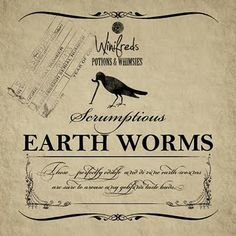earth worms label
