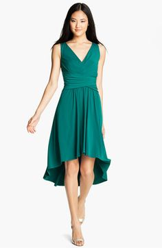 Suzi Chin for Maggy Boutique Pleated V-Neck Dress (Petite) | Nordstrom