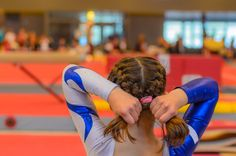20 THOUGHTS THAT GO THROUGH YOUR HEAD BEFORE A GYMNASTICS MEET: PARENT, GYMNAST, COACH, JUDGE AND MEET DIRECTOR PERSPECTIVES Black Girl Short Hairstyles, Gym Hairstyles, Braided Ponytail Hairstyles, Cute Girls Hairstyles, Hairstyles For School, Gymnastics Hairstyles, Updo Hairstyle, Everyday Hairstyles, Wedding Hairstyles