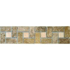 MS International Noche Chiaro Basket Weave 3 in. x 12 in.Travertine Listello Floor & Wall Tile (1 Ln. Ft. per piece)-THDW3-BOR-NCCHBW3X12T at The Home Depot