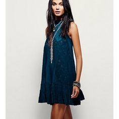 Free People Angel Lace dress jade colored angel lace dress by free people. flawless, only worn once. Free People Dresses Mini